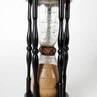 Very Rare and Unusual French Ebony Hourglass, Early XVIII Century