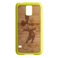 Mickey Mouse Wooden Samsung Galaxy S5 Case