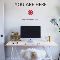 Vinylize Wall Deco - Mini You Are Here - Wall Sticker   Vinylize Wall Deco