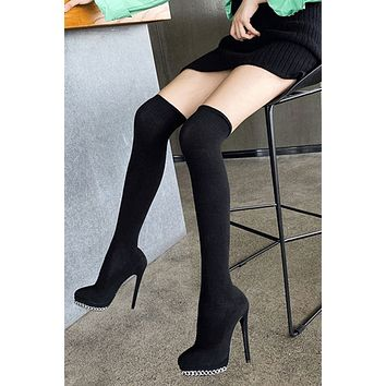 Over The Knees Sock Boots