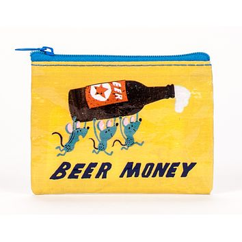 Beer Money Recycled Material Cool Small/Mini Zip Coin/Change Purse/Bag/Pouch/Wallet