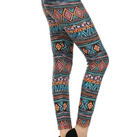 Vacation Aztec Leggings. Super Soft from Legging Army. One Size.