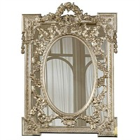 English Grandeur Hand Finished Entryway or Wall Mirror with Silver Finish