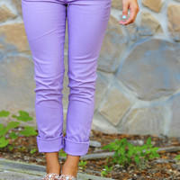 RESTOCK What A Girl Wants Pants: Lavender | Hope's