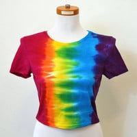 Tie Dye Crop Top, Cropped Tee, Yoga Clothes
