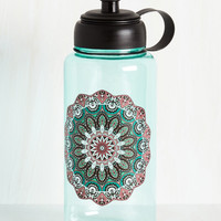 Hydrated and Mighty Water Bottle in Medallion | Mod Retro Vintage Keychains | ModCloth.com