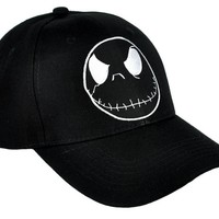 Negative Jack Skellington Hat Baseball Cap Nightmare Before Christmas