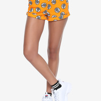 Dragon Ball Z Orange Master Roshi Kanji Print Girls Lounge Shorts
