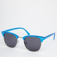 River Island Retro Clubmaster Sunglasses at asos.com