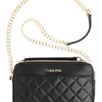 Calvin Klein Quilted Leather Convertible Crossbody