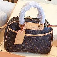 LV Louis Vuitton New fashion monogram leather women pillow shape shoulder bag crossbody bag handbag