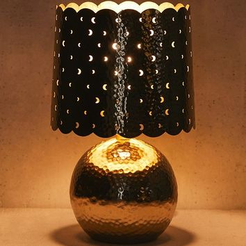 Luna Hammered Metal Table Lamp | Urban Outfitters