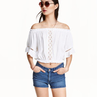 Short Puff Blouse - from H&M