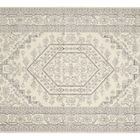 Forester Rug, Ivory/Silver,