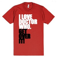 I love Doctor Who-Unisex Red T-Shirt