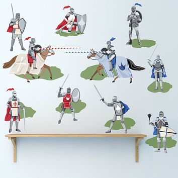 Medieval Knights Wall Decals, Boys Wall Decals, Removable Wall Stickers