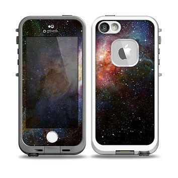 The Multicolored Space Explosion Skin for the iPhone 5-5s fre LifeProof Case