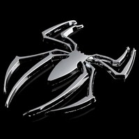 Car-Styling 3D Car Stickers Universal Metal Spider Shape Emblem Chrome 3D Car Truck Motor Decal Sticker DIY Car Styling