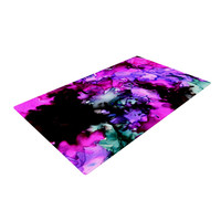 """Claire Day """"Siren"""" Pink Purple Woven Area Rug"""