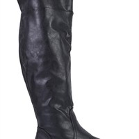 Tall Faux Leather Riding Boot