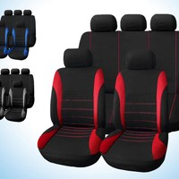 Universal Car Seat Cover 9 Set Full Seat Covers Crossovers Sedans Auto Interior Accessories Full Cover Set for Car Care