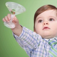Martini Time Baby Rattle