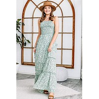 Dancing Through The Summer Smocked Maxi Dress