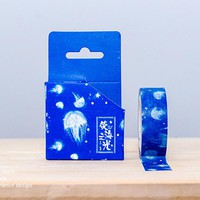 15mm x 7m Blue ocean jellyfish washi tape DIY decorative scrapbook planner masking tape office adhesive tape stationery