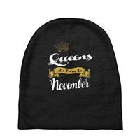 queens are born in november Baby Beanies