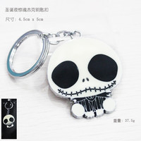 1pcsThe Nightmare Before Christmas Jack Keychain Key Chain Pendant Keyring Key Ring For Man's Boy's Women KT352  hwd