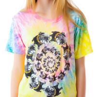 UNIF Nightmare Swirl Short Sleeve Tee Tie Dye