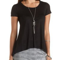 High-Low Tee with Twist Back by Charlotte Russe