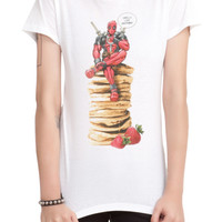 Marvel Deadpool Victory Pancakes Girls T-Shirt