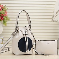 Fendi Women Leather Shoulder Bag Crossbody Satchel Two-Piece