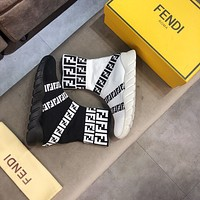 Fendi Men's Flyknit Fashion Sock High Top Sneakers Shoes