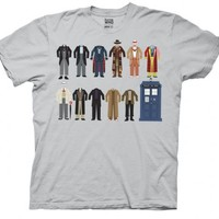 Doctor Who Clothing Outfits Silver Adult T-shirt
