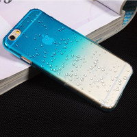 Ultra-thin Creatively 3D rain drop water raindrop hard back cover semi-transparent colorful phone case for iphone 6 PT2150