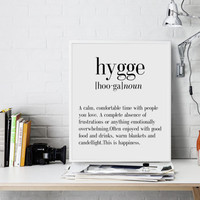 Hygge Definition Printable Poster Funny Wall Art Printable Decor Teen Funny Definition Word Room Decor Typography Print Dictionary Print