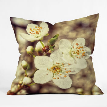 Shannon Clark Blossoms 3 Throw Pillow