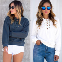 Round-neck Long Sleeve T-shirts Hoodies Sweatshirts [9572042063]