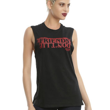 Stranger Things Friends Don't Lie Girls Muscle Top