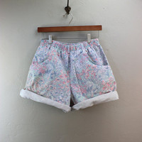 Vintage 80s Pastel Baggy Shorts Size Small / Medium