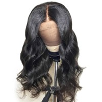 Cool Brazilian 13X4 Lace Front Human Hair Wigs With Baby Hair Body Wave Lace Front Wig Remy Hair Pre Plucked Bleached Knot With FullAT_93_12