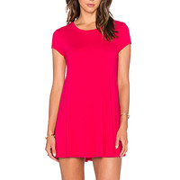 Light Weight Jersey Shift Dress in Strawberry