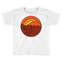 sunset circle Toddler T-shirt