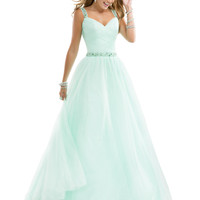 Sweetheart With Shoulder Straps Ruched Formal Prom Dress Flirt P4832