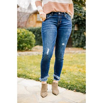 Double Trouble Fringed KanCan Jeans