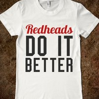 REDHEADS DO IT BETTER FITTED TEE