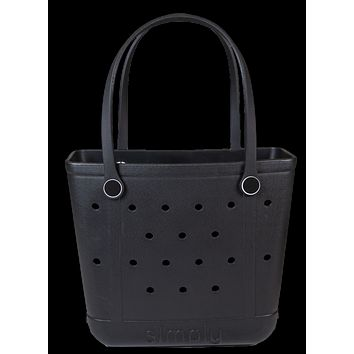 Simply Southern Small Black Beach Waterproof Washable Tote Bag