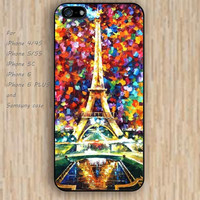 iPhone 5s 6 case Iron tower watercolor love colorful phone case iphone case,ipod case,samsung galaxy case available plastic rubber case waterproof B664